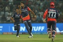 With love, from Avesh Khan, Delhi Daredevils v Kolkata Knight Riders, IPL 2018, Delhi, April 27, 2018
