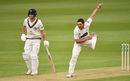 Lukas Carey in action, Middlesex vs Glamorgan, Specsavers Championship Division Two, Lord's, April 27, 2018