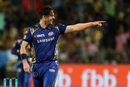 Mitchell McClenaghan is stoked upon picking up a wicket, Chennai Super Kings v Mumbai Indians, IPL 2018, Pune, April 28, 2018