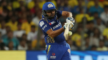 Rohit Sharma clobbers one off the middle of the bat