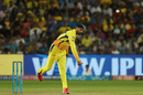 Harbhajan Singh in his follow through, Chennai Super Kings v Mumbai Indians, IPL 2018, Pune, April 28, 2018