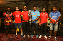 The six captains pose with the WCL Division Four tournament trophy, Kuala Lumpur, April 28, 2018