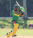 Patrick Matautaava cuts through the off side, Jersey v Vanuatu, ICC World Cricket League Division Four, Bangi, April 29, 2018