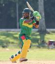 Patrick Matautaava cuts through the off side, Jersey v Vanuatu, ICC World Cricket League Division Four, Bangi, April 29, 2018
