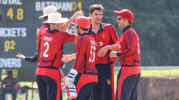 Ben Stevens was at the center of the action after taking another bag full of wickets for Jersey