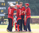 Ben Stevens was at the center of the action after taking another bag full of wickets for Jersey, Jersey v Vanuatu, ICC World Cricket League Division Four, Bangi, April 29, 2018