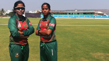 Bangla bash: Rumana Ahmed (left) and Khadija Tul Kubra in Belgaum, on their tour of India