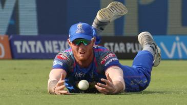 Ben Stokes drops a catch