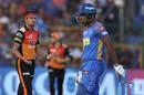 Siddarth Kaul dismissed Sanju Samson with a knuckleball, Rajasthan Royals v Sunrisers Hyderabad, IPL 2018, Jaipur, April 29, 2018