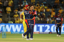 Shreyas Iyer and Trent Boult opt for a review, Chennai Super Kings v Delhi Daredevils, IPL  2018, Pune, April 30, 2018