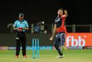 Liam Plunkett hits his delivery stride, Chennai Super Kings v Delhi Daredevils, IPL  2018, Pune, April 30, 2018
