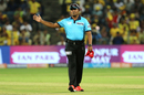 C Shamshuddin makes the no-ball gesture, Chennai Super Kings v Delhi Daredevils, IPL  2018, Pune, April 30, 2018