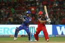 Manan Vohra punches into the off side, Royal Challengers Bangalore v Mumbai Indians, IPL 2018, May 1, 2018