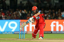 Brendon McCullum gets on his knee to lift one over extra cover, Royal Challengers Bangalore v Mumbai Indians, IPL 2018, May 1, 2018