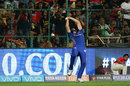 Ben Cutting stretches to hold onto a catch, Royal Challengers Bangalore v Mumbai Indians, IPL 2018, May 1, 2018