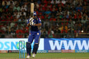 Kieron Pollard stabs one into the leg side, Royal Challengers Bangalore v Mumbai Indians, IPL 2018, May 1, 2018