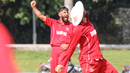 Captain Hamid Shah roars after Denmark clinches victory, Denmark v Malaysia, ICC World Cricket League Division Four, Bangi, May 2, 2018