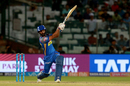 Rahul Tripathi goes for a big hit, Delhi Daredevils v Rajasthan Royals, IPL 2018, Delhi, May 2, 2018