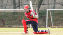 Nat Watkins sweeps through square leg for a boundary on his way to top-scoring for Jersey, Denmark v Jersey, ICC World Cricket League Division Four, Kuala Lumpur, April 30, 2018
