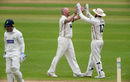Darren Stevens celebrates with Adam Rouse, Glamorgan v Kent, Cardiff, May 4, 2018