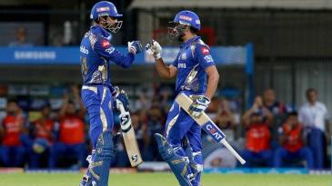 Rohit Sharma and Krunal Pandya put up a match-winning 56-run stand