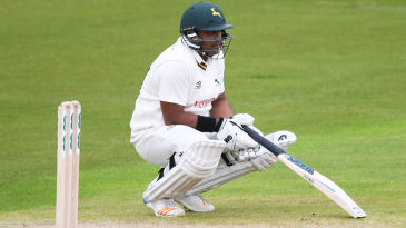 Samit Patel looks disconsolate after running out Ross Taylor