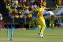 Lungi Ngidi celebrates a run out, Chennai Super Kings v Royal Challengers Bangalore, IPL 2018, Pune, May 5, 2018