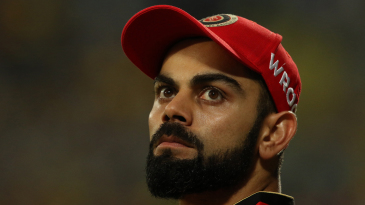Virat Kohli sports a look of introspection