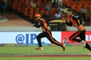 Catch me if you can: Rashid Khan and Alex Hales chase the ball, Sunrisers Hyderabad v Delhi Daredevils, IPL 2018, Hyderabad, May 5, 2018