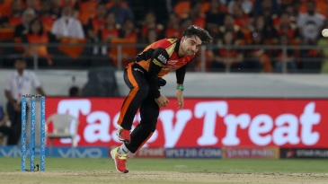 Rashid Khan sends one down