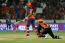 Wriddhiman Saha dropped a thin edge from Shreyas Iyer, Sunrisers Hyderabad v Delhi Daredevils, IPL 2018, Hyderabad, May 5, 2018