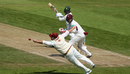 Richard Levi dives in an attempt to catch Haris Sohail, Northamptonshire v Pakistan, Day 2, Northampton, May 5, 2018