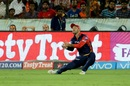 Glenn Maxwell put down Alex Hales early in the chase, Sunrisers Hyderabad v Delhi Daredevils, IPL 2018, Hyderabad, May 5, 2018