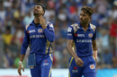 Hardik Pandya reacts to a dropped catch, Mumbai Indians v Kolkata Knight Riders, IPL 2018, Mumbai, May 6, 2018