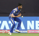 Mayank Markande fails to hold on to a catch, Mumbai Indians v Kolkata Knight Riders, IPL 2018, Mumbai, May 6, 2018