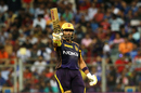 Robin Uthappa celebrates his half-century, Mumbai Indians v Kolkata Knight Riders, IPL 2018, Mumbai, May 6, 2018