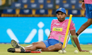 Stuart Binny spends some time in reflection, Kings XI Punjab v Rajasthan Royals, IPL 2018, Indore, May 6, 2018