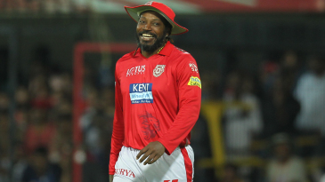 Chris Gayle allows himself a grin