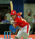 Marcus Stoinis shapes to play a delivery, Kings XI Punjab v Rajasthan Royals, IPL 2018, Indore, May 6, 2018