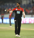 Umesh Yadav collects a throw, Sunrisers Hyderabad v Royal Challengers Bangalore, Hyderabad, IPL 2018, May 7, 2018