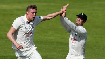 Jake Ball takes another one for Nottinghamshire