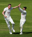 Jake Ball takes another one for Nottinghamshire, Nottinghamshire v Hampshire, County Championship, Division One, Trent Bridge, 4th day, May 7, 2018