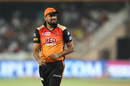 Yusuf Pathan rues a misfield, Sunrisers Hyderabad v Royal Challengers Bangalore, Hyderabad, IPL 2018, May 7, 2018