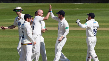 Chris Rushworth started Leicestershire's dramatic collapse