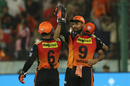Yusuf Pathan is congratulated upon claiming a catch, Sunrisers Hyderabad v Royal Challengers Bangalore, Hyderabad, IPL 2018, May 7, 2018