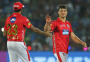 Marcus Stoinis is congratulated by his captain, Rajasthan Royals v Kings XI Punjab, IPL 2018, Jaipur, May 8, 2018
