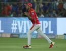 Manoj Tiwary holds on to a catch, Rajasthan Royals v Kings XI Punjab, IPL 2018, Jaipur, May 8, 2018