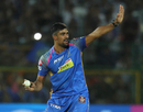 Ish Sodhi celebrates a wicket, Rajasthan Royals v Kings XI Punjab, IPL 2018, Jaipur, May 8, 2018