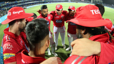 Kings XI Punjab in a huddle