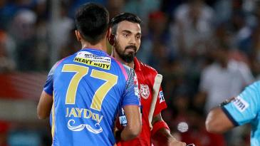 A dejected KL Rahul after Kings XI Punjab's loss